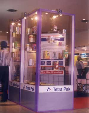 Modular exhibition stall for Tetra pak